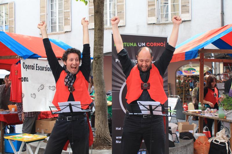 Luca Chieregato e Fabio Pesenti hanno coinvolto un pubblico entusiasta.