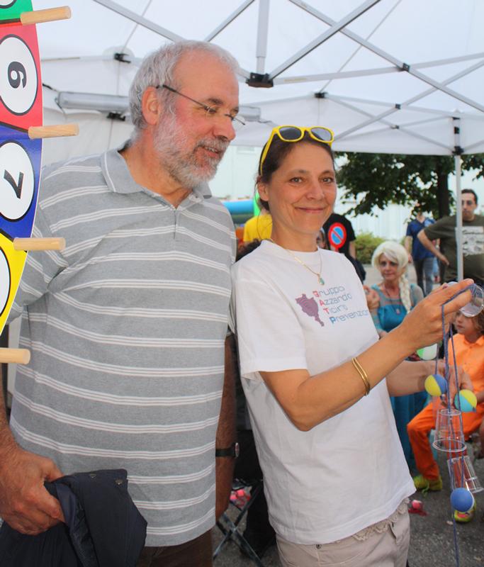 Il presidente Mauro Tettamanti e la coordinatrice Anna-Maria Sani