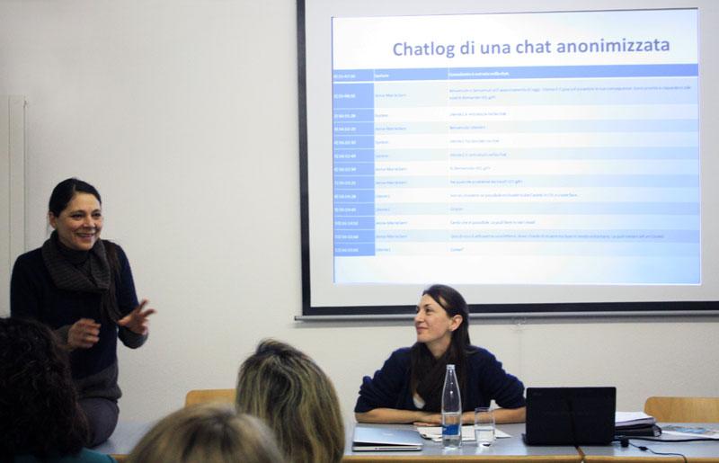 Anna-Maria Sani (GAT-P) parla della sua esperienza di consulenza online esponendo le differenze di un consulto via chat.